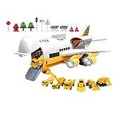 bansd Historia Musical Simulación de Pista Inercia Juguete para niños Aviones de Gran tamaño Multicolor Conjunto de vehículos de ingeniería