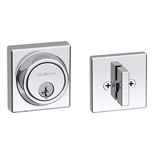 Kwikset 98160-017 Contemporary Key Control deadbolt, Polished Chrome