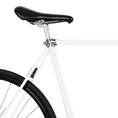 MOOXIBIKE Pearl White Matt metallic, Fahrradfolie für Rennrad, MTB, Trekkingrad, Fixie, Hollandrad, Citybike, Scooter, Rollator für circa 13 cm Rahmenumfang