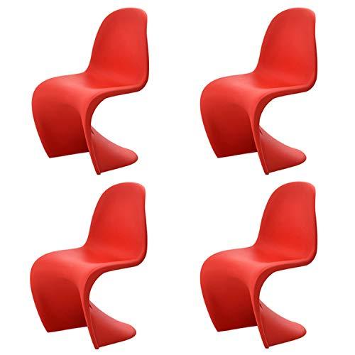 Haida 4 PCS Moderna Plastica Retro Pranzo Sedie da Ufficio Sala da Pranzo Cucina Camera, Cucina Sedie Soggiorno Poltrona, Nordic Style Schienale Lounge Chair Lounge Chair Hanging Chaise