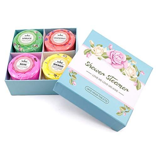 Katyma 8 unidades de ducha de flores, vaporizador, pastillas de baño de espuma, set de regalo con aceites esenciales para reducir el estrés, vaporizador, spa, ducha, regalo para mujeres