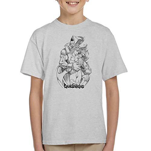 Cloud City 7 Demitri and Morrigan Darkstalkers Logo Kid's T-Shirt