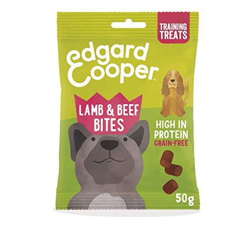Edgard & Cooper chuches para Perros sin Cereales. Premios Naturales Ricos en proteínas hasta un 85% de Carne cocinada al Horno con Ingredientes Simples. Multipack de 15x50grs