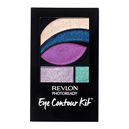 Revlon PhotoReady Eye Contour Kit, Eyeshadow Palette with 5 Wet/Dry Shades & Double-Ended Brush Applicator, Eclectic (517), 0.1oz