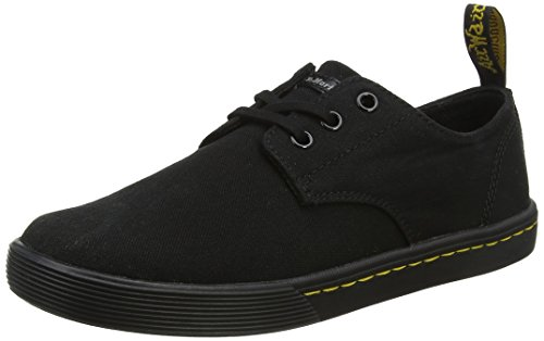 Dr. Martens Women's Santanita Sneaker, Black Canvas, 8