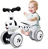 Baby Balance Bikes 10-36 Month Children Walker | Toys for 1 Year Old Boys Girls | No Pedal Infant 4 Wheels Toddler Bicycle | Best First Birthday New Year Holiday (Dog)