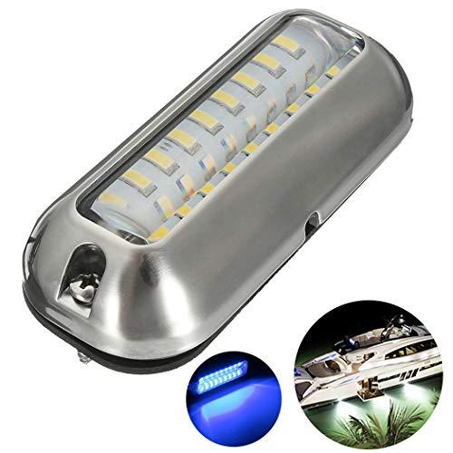 Unterwasserbeleuchtung Boot,Fansport BoatLight Transom Light Bootsrücklicht Dekor Bootslichtleiste Unterwasser LED Licht