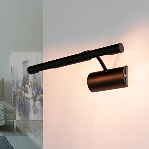 Bilderleuchte Schwarz 2x G9 klassisches Design 29 cm Metall Bilderlampe Wand Wohnzimmer Flur
