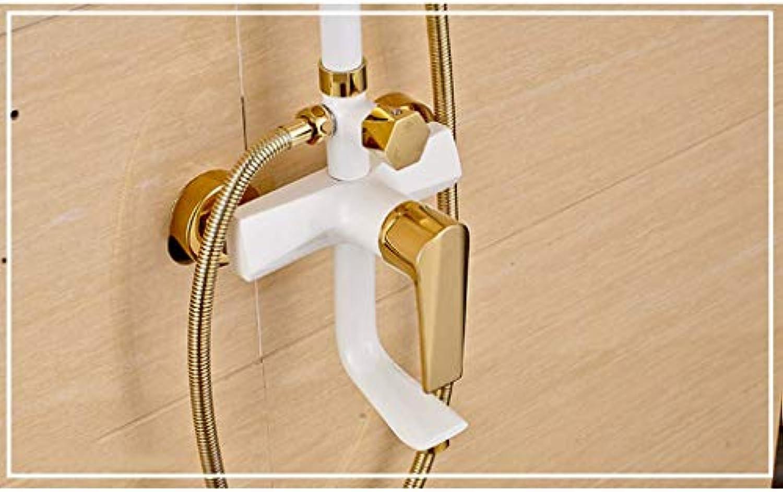 GWFVA Badezimmer-Brausebatteriesatz, Duschsets, Duschkpfe, Regenkopf aus Kupfer für Badezimmer, verstellbare Dusche, Handbrause, Duschkopf zur Wandmontage