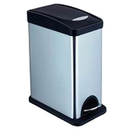 Honey-Can-Do Square Stainless Steel Trash Can with Liner, 8 L/2.1 Gallon