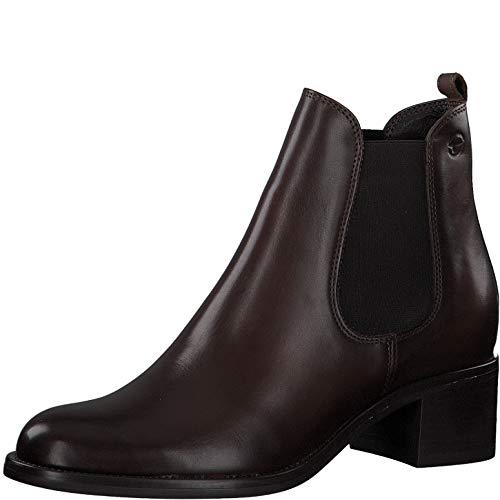 Tamaris Damen Stiefeletten, Frauen Chelsea Boots, geschäftsreise büro Stiefel halbstiefel Bootie Schlupfstiefel hoch weiblich,Cafe,40 EU / 6.5 UK