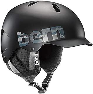 BERN - Kids Winter Bandito EPS Snow Helmet, Black Camo Logo with Black Liner, M/L