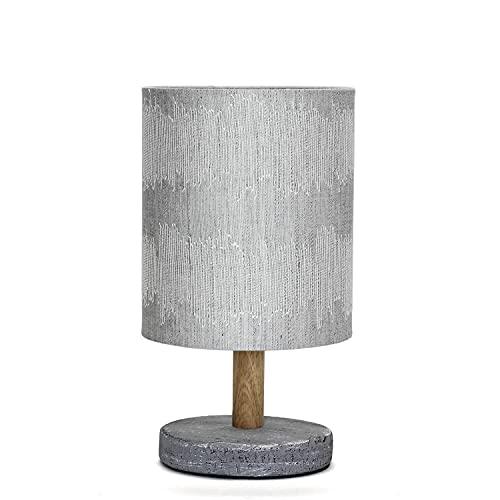 Moderna lámpara de mesa EAWAN de tela de hormigón, 18 cm, pequeña, color gris, E14, lámpara de mesa de salón, lámpara de noche