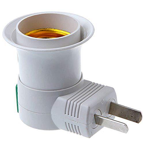 XL Adaptateur de Prise E27 / E26 avec Interrupteur Support d'adaptateur de Prise Standard pour appareils d'éclairage domestiques Ampoules de convertisseur de Prise