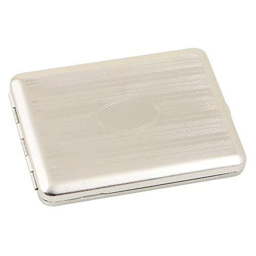 Zigaretten-Etui mit Streifendekor und Gravurfeld für Zigaretten im 100-mm-Format