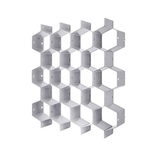 Organizador Divisor de cajones lfdhcn 8 Piezas Caja divisoria de cajón de Panal de Rejilla de plástico DIY