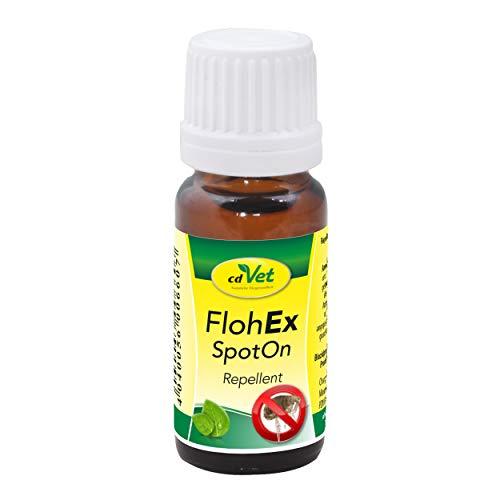 cdVet FlohEx SpotOn rein pflanzliches Flohmittel 10 ml - natürlicher Flohschutz ohne Chemie für Hunde, Katzen und alle Wirbeltiere