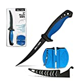 Rhinoreto Fillet Knife Fishing. Flexible, stainless steel blade. 5 - 8 inch Filet knife with sheath and sharpener. (5)