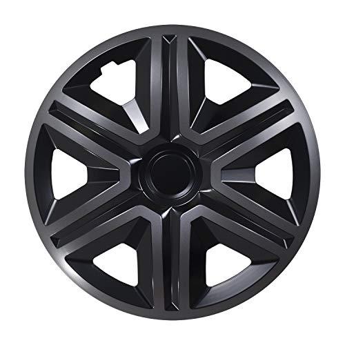 NRM Action Radzierblenden 4X Stück Universal Radkappen 4er Set (Graphit-schwarz, 15