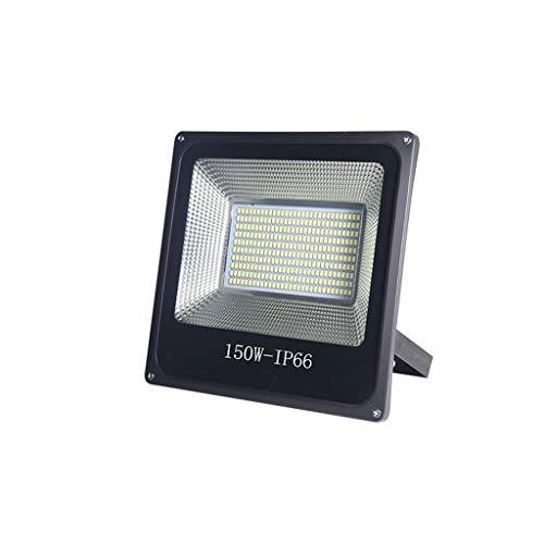 FINDYU Focos LED Exterior Super Brillante Destacar Moderno Durable IP66 A Prueba De Agua Seguridad Al Aire Libre Jardín Lámpara De Trabajo Floodlight (Color : Luz Calida, tamaño : 150W)