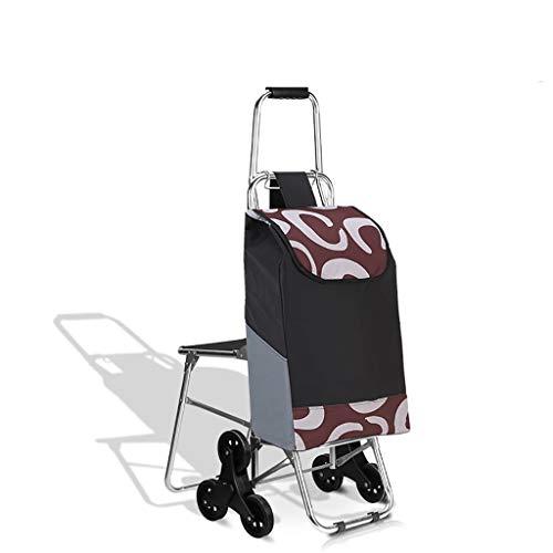 Einkaufstrolleys Einkaufswagen Faltender Einkaufswagen und 6 Rad und Lebensmittelgeschäft Treppe Mountainbike und wasserdicht (Farbe : B)