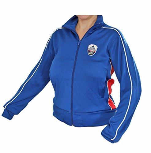 Adidas Linear Track Top Jacket Sportjas Dames blauw-rood