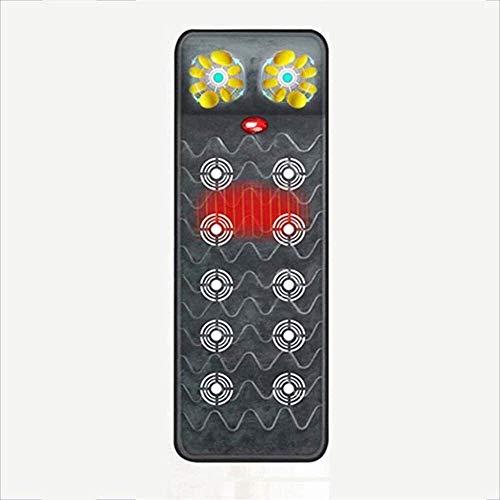 MKXF Colchón de Masaje con calefacción, Plegable, Multifuncional, vibración lejana, masajeador, Almohada Multifuncional, Cuerpo Completo