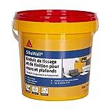 SikaWall Enduit de Lissage et de Finition murs et plafonds prêt à l'emploi en pâte, facile à poncer, Blanc, 1,5kg ~ 4m²