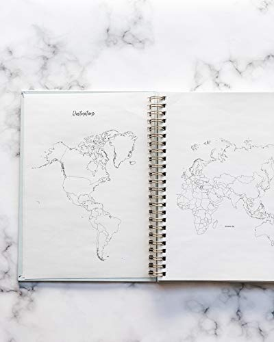 Product Image 6: Travel Planner Journal for Women– Travel Notebook and Vacation Journal for 6 Trips– A Great Travel Gift – Undated, 6 Trips