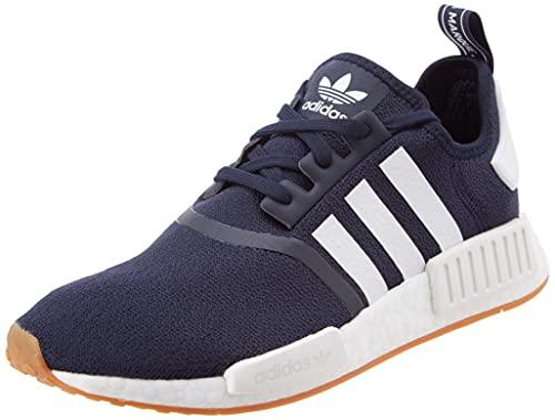 adidas NMD_R1, Sneaker Hombre, Collegiate Navy/Footwear White/Gum, 44 EU