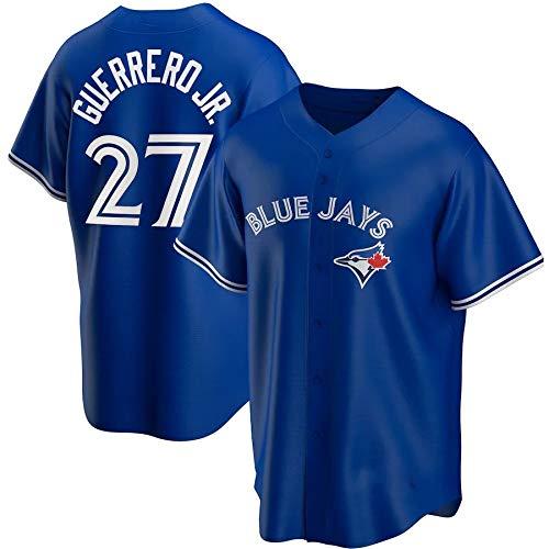 JMING Camiseta De Béisbol para Hombre, Blue Jays 11#99 RYU #27 Guerrero Jr Aficionados Y Aficionados Uniformes De Béisbol, Camisetas, Uniformes De Juego, Camisetas Deportivas De Manga Corta (A4,L)