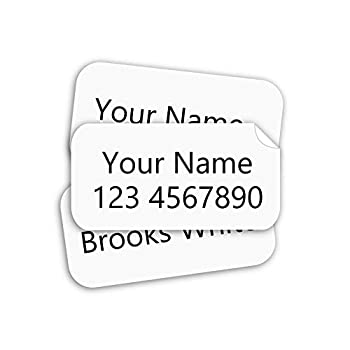 Stick on Clothing Labels Stick-n-Wear Labels Personalized with Your Name!  120