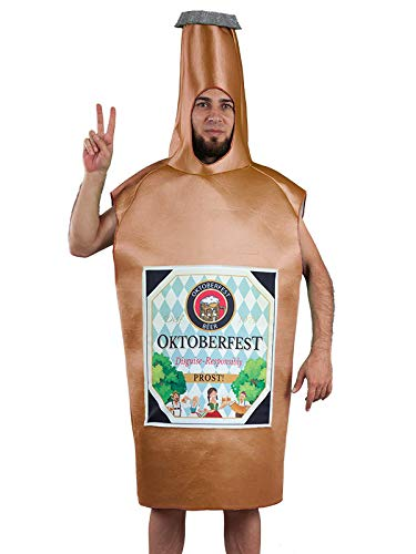 DISBACANAL Disfraz botelln de Cerveza Adulto - -, Adulto