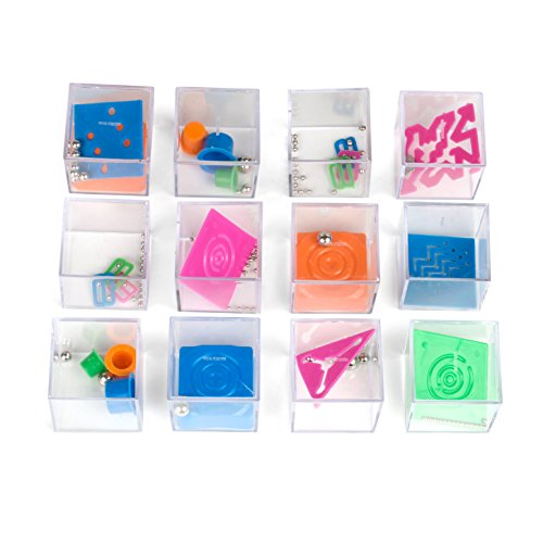 1 Dozen Assorted 1.5 Mind Teaser Puzzle Cubes - Office Toy Cubes - Party Favors - Goody Bags - Carnival Prizes - Easter Games and Egg Stuffers - Stress Relief Toys - Educational Toys