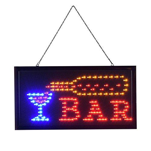 GOTOTO Schild, LED, beleuchtetes Bedienfeld für Schaufenster, Bar, Café, Restaurant, 48 x 25 cm