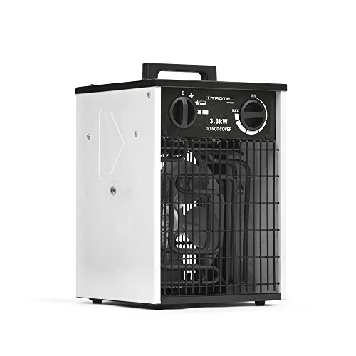TROTEC Elektroheizer TDS 20 Heizer Heizlüfter Heizer Überhitzungsschutz 3 Heizstufen 3,3 kW Gebläsemotor Thermoschutz