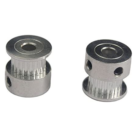 Invento 2pc GT2 Pulley 20T Teeth 5mm Bore Timing Pulley 3D Printer Part for GT2-6mm Belt