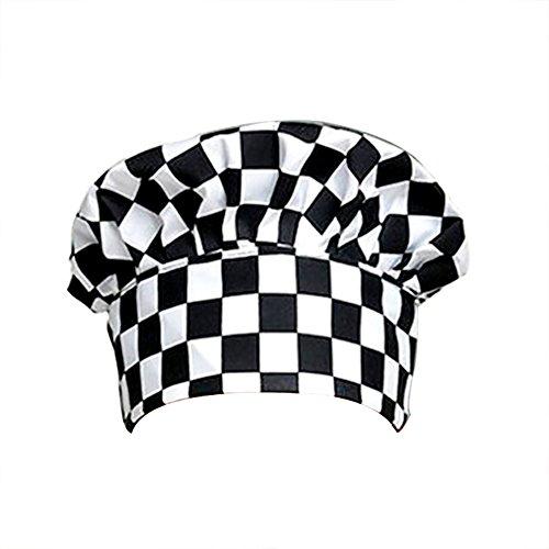 Dosige Chef Hat Hotel Kelner keukenbenodigdheden tent, stoffen muts mannen en vrouwen managerwerk deksel gevouwen zijde (deken wit en zwart)