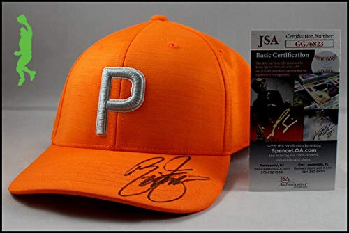 Great Features Of Rickie Fowler Autographed Orange Puma Golf Hat Cap Masters Coa - JSA Certified - A...