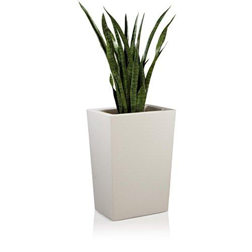 Pot de Fleur Plastique LARGO M 70, 50x36x70 cm, blanc mat