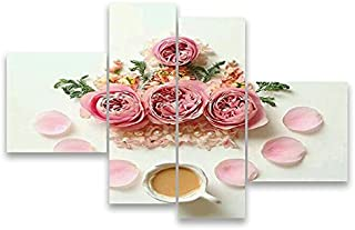 لوحة فنية جدارية من الورود MDF p4-7020-60x40
