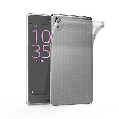 Cadorabo Funda para Sony Xperia X Performance en Transparente - Cubierta Proteccíon de Silicona TPU Delgada e Flexible con Antichoque - Gel Case Cover Carcasa Ligera