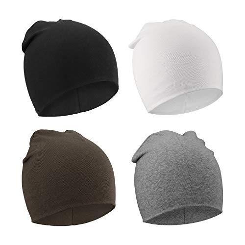 DRESHOW 4 PCS Bebé Beanie Sombrero Recién Nacidos Niño Pequeño Sombrero para Bebés Niños Gorros