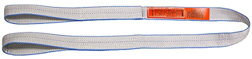 "Lift All EE2801TFX6 Tuff-Edge Web Sling, Flat Eye and Eye, 2-ply, 1"" x 6', Silver, Model Number: LIF EE2801TFX6"