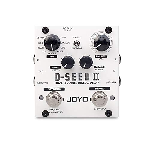 D-SEED II Stereo PingPong Effect Guitar Pedal Delay Looper Function Tape Recording Simulation Copy Analog Reverse Effects