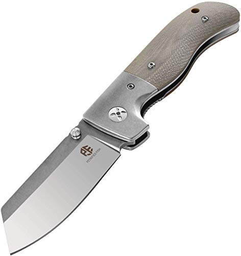 Pocket Knife, EDC Folding Knife Everyday Carry, G10 handle, With Pocket clip,Material Sharp Satin Blade, Great for Paring, Hunting and Camping,Ideal Gifts for Your Family (Desert color)