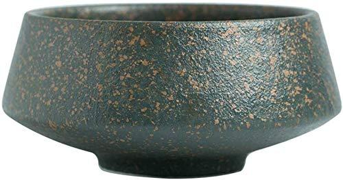 XUEXIU New Wave Soup Plate Bowl Haute-Legged Soup Bowl Western Art De La Table Verte Pasta Bowl Accueil Bol De Riz Taille Sélection Perfect for Catering and Home (Color : Green, Size : 13 * 8CM)