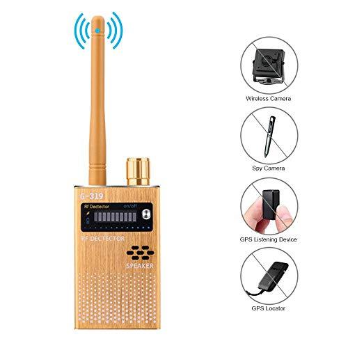 Lesgos Anti-Spion-Funk-RF-Signalerkennungs-Set, Bug GPS-Kamera Signalerkennungs-Funksignal-Finder zum Erkennen versteckter Kameras GPS-Tracker-Funksignaldetektor [2019 Upgrade]