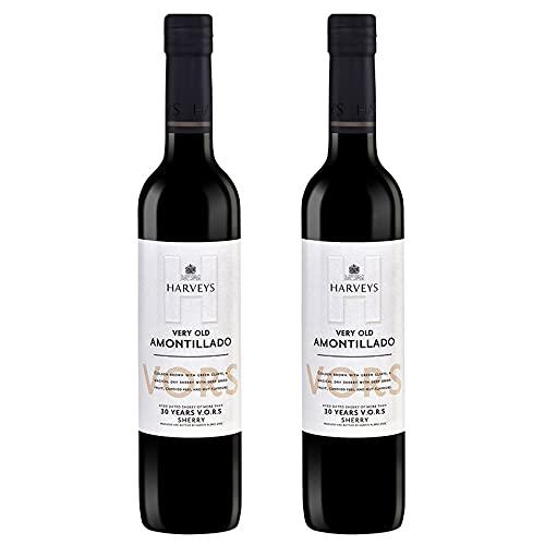 Vino VORS Amontillado Harveys de 50 cl - D.O. Jerez-Sherry - Bardinet (Pack de 2 botellas)