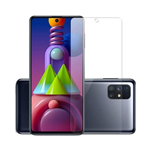 WOZTI Screen Protector Tempered Glass Compatible for Samsung Galaxy M51 / A71 / Samsung Galaxy Note10 Lite (Transparent) Full Screen Coverage (except edges)
